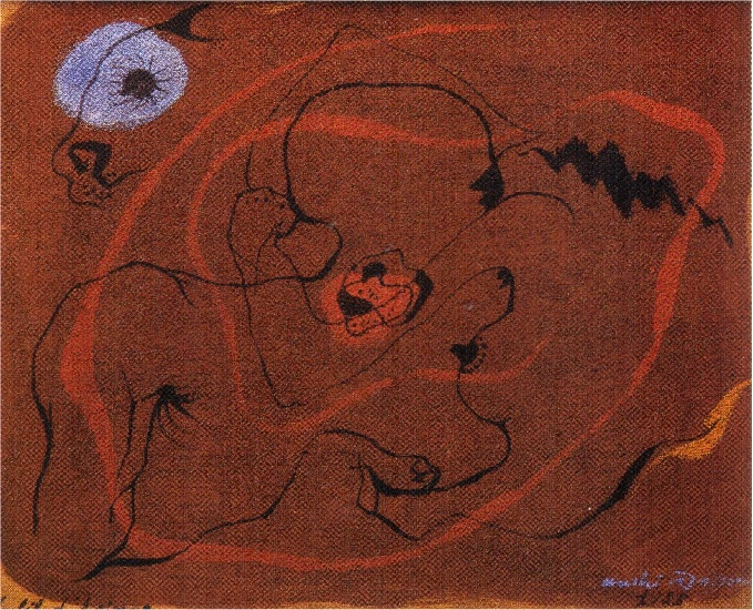 André+Masson+-+the+wire+of+ariane+(1938)+
